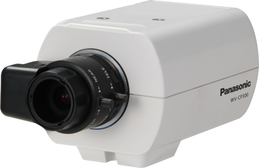 WV-CP300 | 1/3 type interline transfer CCD, High resolution: 650 TV lines, Compact Fixed Camera with advanced features, High sensitivity with Day/Night (electrical) function: 0.08 lx (Color), 0.05 lx (B/W) at…